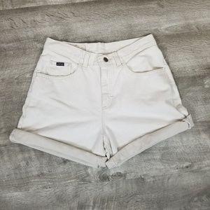 Vintage Lee high rise mom jean shorts.